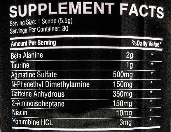 Trilliant Labs Wigg D Pre Workout 165g Stimulant Pre Workout