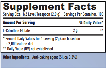 Citrulline Malate 100% Pure 200g
