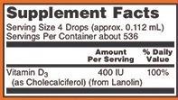 Liquid Vitamin D-3 400ui 59 ml