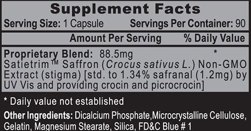 Satietrim Saffron Extract 90 caps