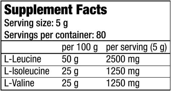 BioTechUSA 100% Bcaa 400g