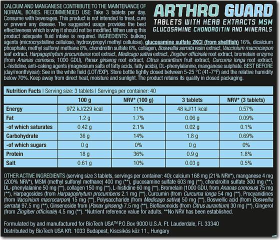 BioTechUSA Arthro Guard 120 caps