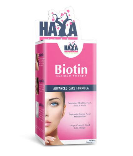 Haya Biotin Maximum Strength 10.000 mcg 100 caps
