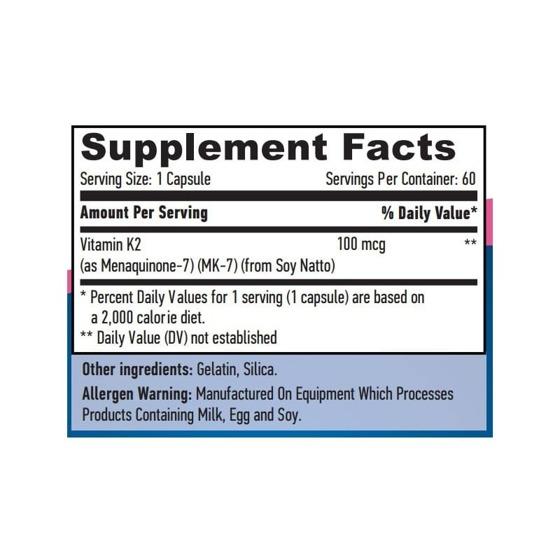 Haya MK-7 Vitamin K2 60 caps