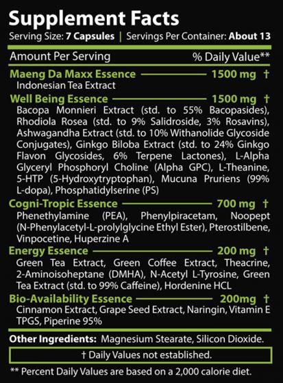 Jungle essence Maeng Da Maxx 90 caps