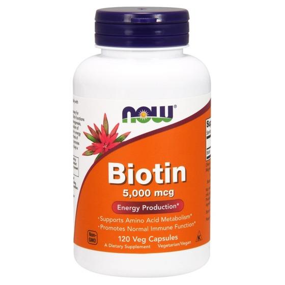 NowFoods Biotin 5000mcg 120 caps