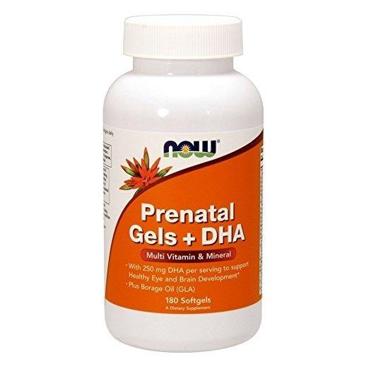 NowFoods Prenatal Gels + DHA 180 caps