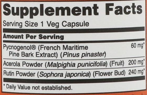 NowFoods Pycnogenol 60 mg 50 caps