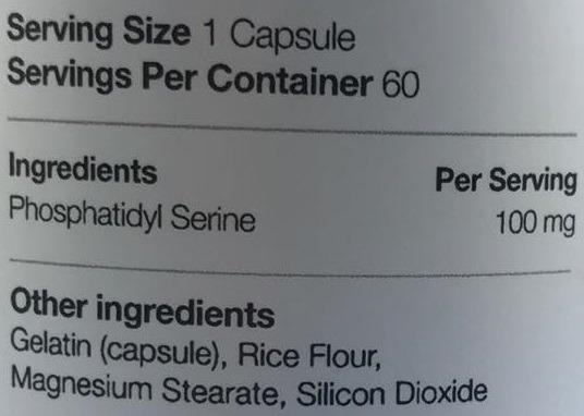 Phosphatidyl Serine 100mg 60 caps